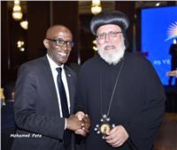الكنيسة الأرثوذكسية تشارك في حفل سفارة رواندا