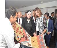 وزيرة الهجرة تتفقد معرض المشروعات الصغيرة والمتوسطة