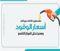 إنفوجراف| «فلسطين» الأغلى عربياً في أسعار الوقود ومصر تحتل المركز التاسع