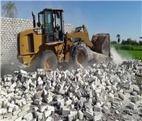 إزالة 100 حالة تعد على الأراضي الزراعية بالمنيا