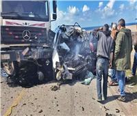 مصرع وإصابة 6 في حادث مرورى على طريق «مرسى علم - القصير»