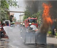 محافظ المنوفية يشهد تدريبا ميدانيا لمواجهة مخاطر الحريق بإحدى الشركات