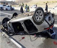 مصرع عاملين وإصابة 14 في حادث تصادم بالعياط