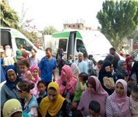 القوافل الطبيةالمجانية تعالج 1850 مريضا بقرى مركز دمنهور بالبحيرة