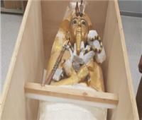 فيديو| الآثار تكشف موعد الانتهاء من ترميم التابوت الذهبي لتوت عنخ آمون