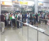 صور| توافد الجماهير الجزائرية إلى مطار القاهرة الدولي لحضور النهائي