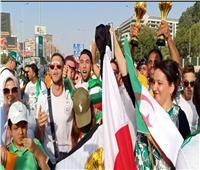 صور.. جماهير الجزائرتحتشد أمام ستاد القاهرة قبل لقاء السنغال