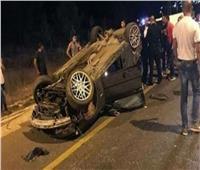 إصابة 5 أشخاص في انقلاب سيارة ملاكي بطريق الضبعة الصحراوي