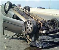 مصرع وإصابة ثلاثة أشخاص في انقلاب سيارة ملاكي بنجع حمادي