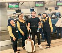 صور| إقلاع أولى رحلات مصر للطيران إلى الكاميرون