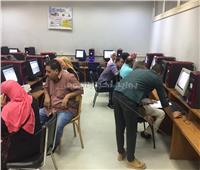 تنسيق الجامعات 2019| توافد الطلاب على معامل جامعة عين شمس