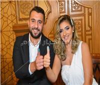 صور| طارق فؤاد يحتفل بعقد قران ابنته على أحمد سيد السبكي
