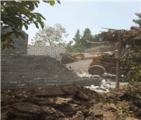 إزالة تعدي على الأراضي الزراعية بمساحة 1167م2 بمركز منوف