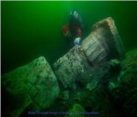 صور| العثور على حطام 75 سفينة أثرية وبقايا ميناء غارقة ومعبد آمون