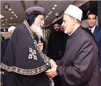 البابا تواضروس يطمئن على صحة الإمام الأكبر