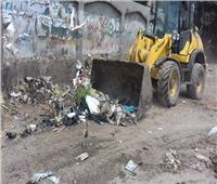 حملة لرفع الإشغالات بمركز مغاغة بالمنيا