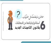 بالإنفوجراف| إجابة 6 أسئلة عن المعاشات في قانون التأمينات الجديد