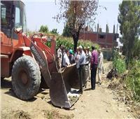 المنوفية: إزالة تعدي على الأراضي الزراعية بمركز أشمون