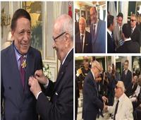 بينهم عادل إمام ومحمود حميدة.. فنانون مصريون كرمهم «السبسي»