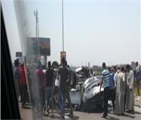 إصابة ٣ أشخاص في انقلاب سيارة بصحراوي البحيرة