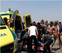 مصرع 4 أشخاص وإصابة آخر في حادث تصادم 3 سيارات بالبحيرة