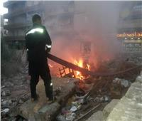 السيطرة على حريق بقطعة أرض فضاء في دمنهور