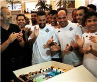 صور.. لاعبو بيراميدز يحتفلون بعيد ميلاد ديسابر