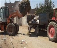 رفع 270 طن من القمامة بقرى ملوي بالمنيا