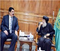 محافظ القليوبية يستقبل وفدي الكنيسة الأرثوذكسية ببنها لتقديم التهنئة بعيد الأضحى