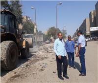 رئيس حي شرق مدينة نصر يتفقد أعمال إزالة المخالفات وتجميل الحدائق