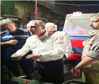 محافظ الإسماعيلية يشيد برجال الحماية المدنية في التعامل مع حريق شارع مصر