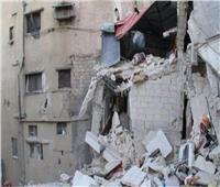 احتجاز 11 أسرة في انهيار عقارين بحي الجمرك بالإسكندرية