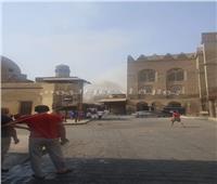 إخماد حريق محدود في بازار سياحي بشارع المعز بالحسين