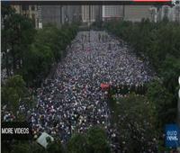 بث مباشر| تواصل الاحتجاجات فى هونج كونج للأسبوع الـ11