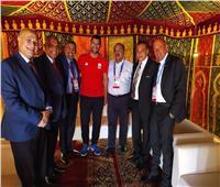 حطب يهنئ درويش وأبطال الجودو في دورة الألعاب الإفريقية بالمغرب