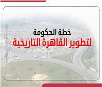 إنفوجراف| خطة الحكومة لتطوير القاهرة التاريخية