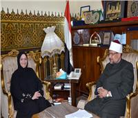 وزير الأوقاف يستقبل مدير المكتب الكويتي للمشروعات الخيرية