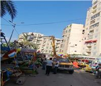 حملات لضبط سرقات الكهرباء وإزالة التعديات بميدان أبي العباس بالإسكندرية