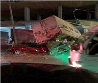 صور| سيارة «نقل» تتسبب في كارثة على الطريق السريع بطنطا