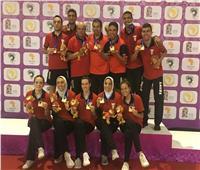 رجال وسيدات تنس الطاولة يتسلمون ذهبيات دورة الألعاب الإفريقية