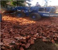 إزالات فورية للتعدي على الأراضي الزراعية بمركزي شبين الكوم والسادات