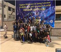 «الغابة» بطل القاهرة الصيفية للسباحة بالزعانف