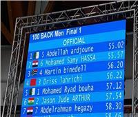 محمد سامي يحقق فضية ١٠٠ متر ظهر بألعاب إفريقيا
