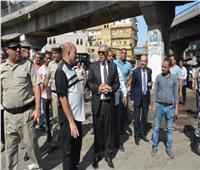محافظ المنيا يتابع أعمال إزالة الإشغالات والمخالفات بمنطقة الحبشي