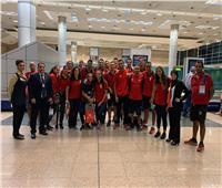 صور| منتخب مصر للسباحة يصل مطار القاهرة