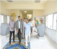 صور| محافظ البحيرة يتفقد أعمال توسعه ورفع كفاءة محطة مياة شبراخيت