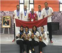 تكريم الفائزين بالميداليات الذهبية في منافسات السلاح بدورة الألعاب الإفريقية