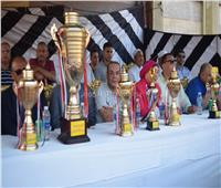 صور| تكريم أسر الشهداء في أقدم دورة رياضية بكفر الشيخ