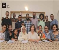 سلوى محمد علي مدربة تمثيل في فيلم سوداني