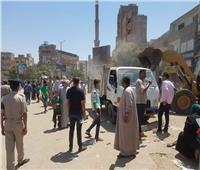 حملات مكبرة لرفع الإشغالات بمركز مغاغة في المنيا